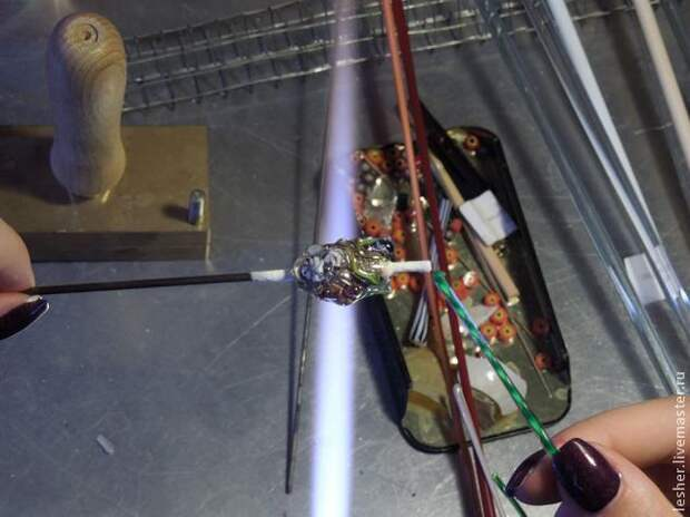 Создание стеклянного кулона-аквариума в технике лэмпворк