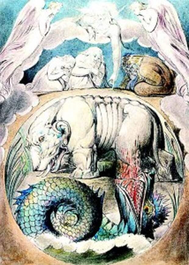 Бегемот на рисунке Уильяма Блейка