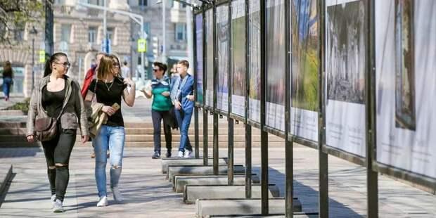 Фотовыставку, приуроченную ко Дню России, открыли на Цветном бульваре