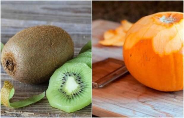 В кожуре киви и тыквы масса витаминов