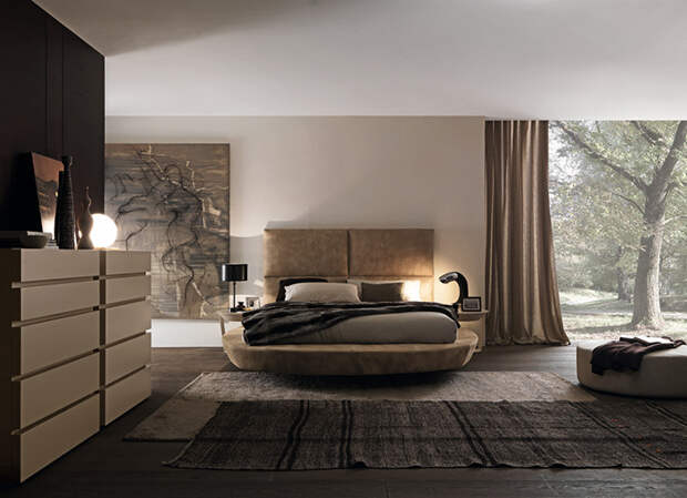 УЮТ. Круглая кровать в интерьере: за и против