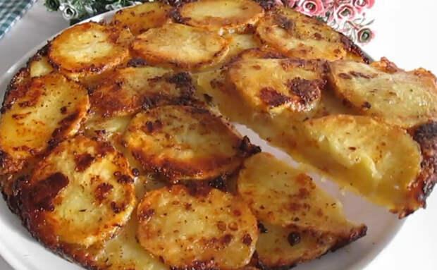 Картошка на завтрак. Выкладываем слоями с сыром и через 20 минут ставим на стол