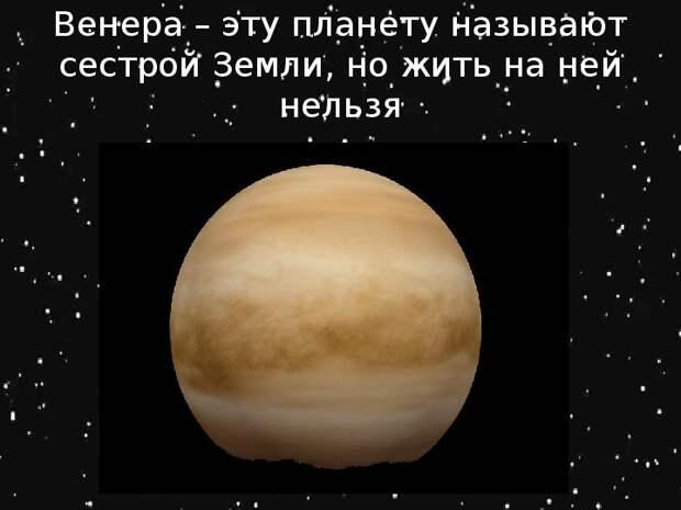 Почему Венера - НЕ сестра Земли?