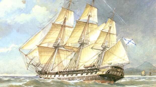 Чем примечательны путешествия адмирала Головнина?: Шлюп «Диана»