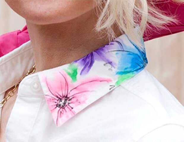 Воротничок с цветами