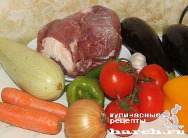 ragu is govyadini s kabachkami i baklaganami 01 Рагу из говядины с кабачками и баклажанами