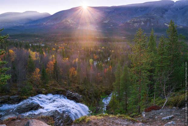 Водопад Красивый, Хибины