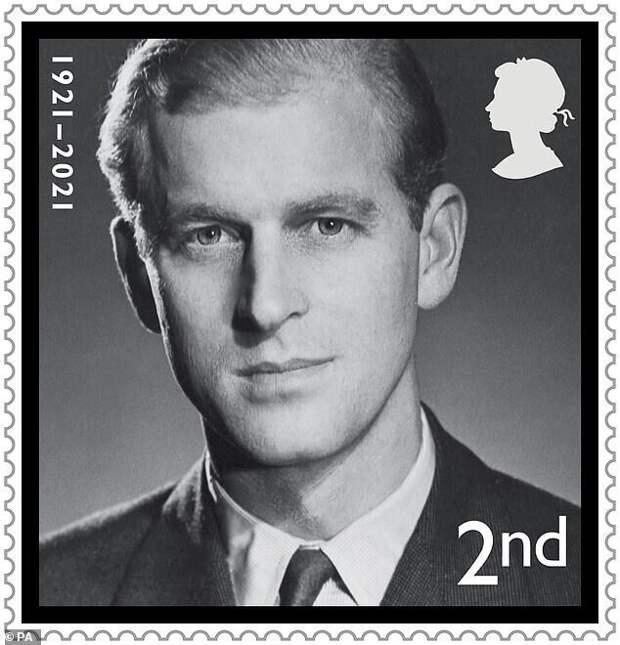 На марке ниже - портрет принца, сделанный в 1940-е годы