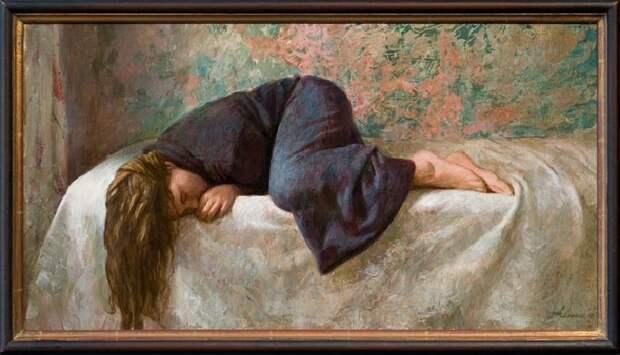 Спящая девушка. Живопись от Kenne Gregoire.