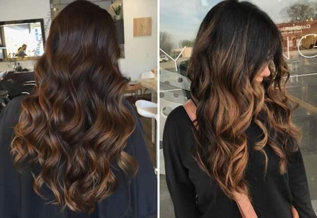 оттенки шоколадного цвета волос