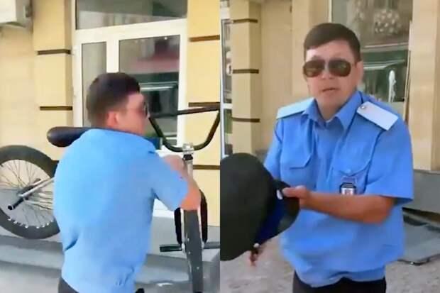 «Что здесь катаетесь?»: Казаку грозит штраф за нападение на велосипедиста