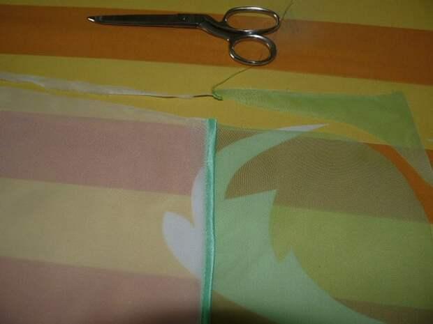 Как соединить два цвета ткани
