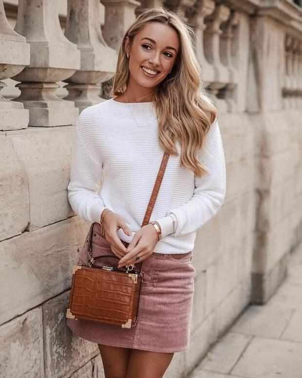 Как правильно носить юбку с кофтой: 25 стильных образов