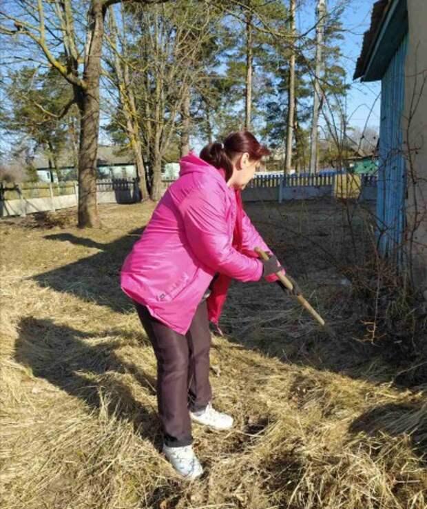 Потрудились на славу: в Бобруйском районе прошел субботник.