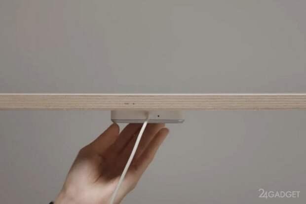 Появилась беспроводная зарядка Qi от IKEA для любого стола