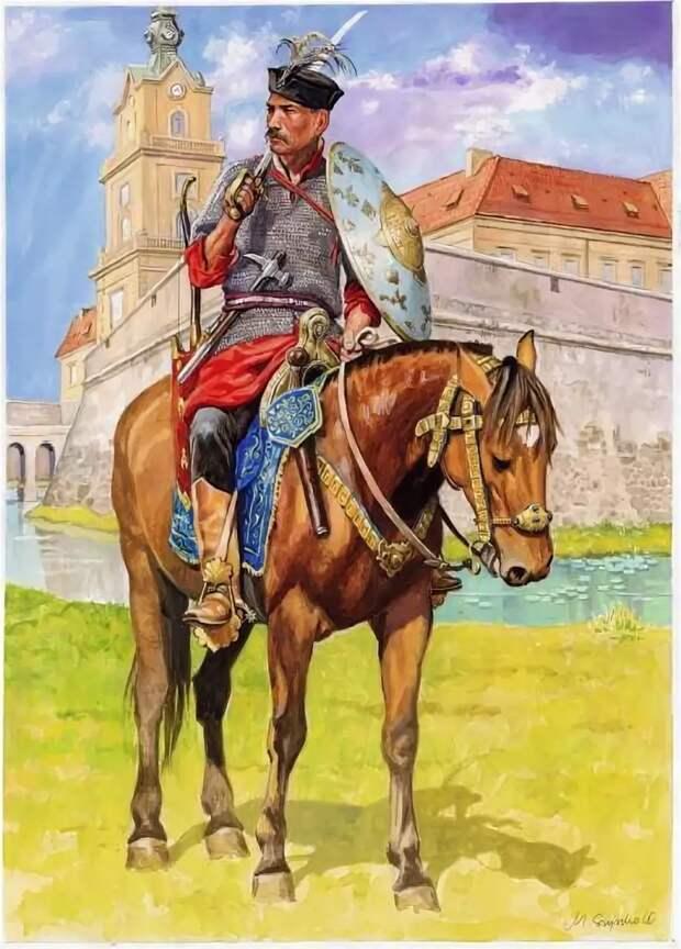 Польский панцирный казак (Иллюстрация из открытых источников)