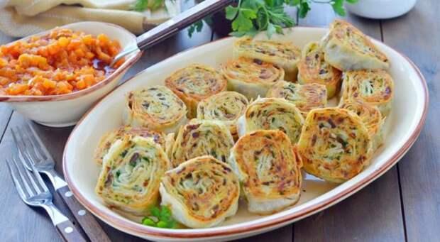 Рулетики с картофельной начинкой. \ Фото: pinterest.com.