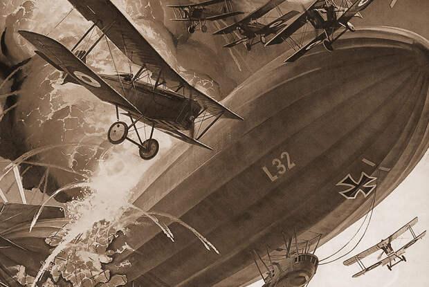 Гибель дирижабля L-32 обер-лейтенанта Вернера Петерсона 23 сентября 1916 года в бою с британскими самолетами над Лондоном
