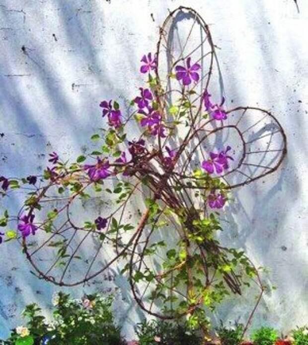 20 оригинальных опор для вьющихся растений. Почти все можно сделать своими руками
