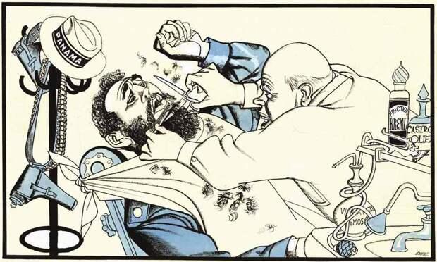 Парикмахер Хрущев пытается привести кубинского лидера Фиделя Кастро в опрятный вид