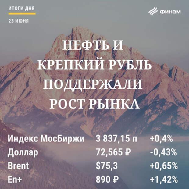 Итоги среды, 23 июня: Нефть и крепкий рубль поддержали рост рынка РФ