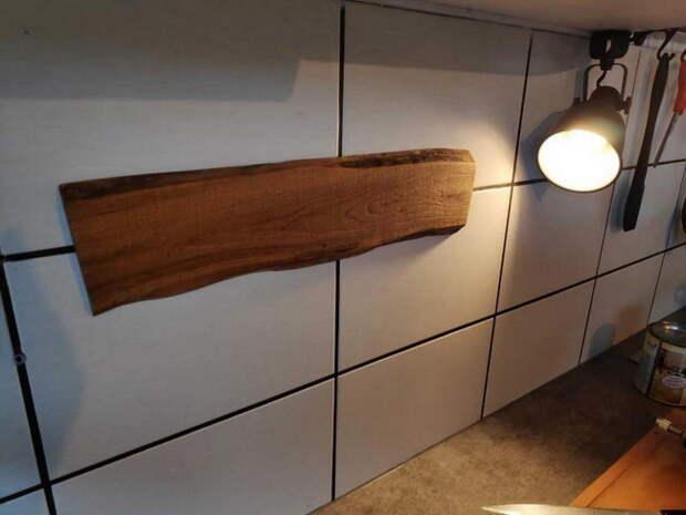Самодельная брутальная магнитная доска для ножей на кухню