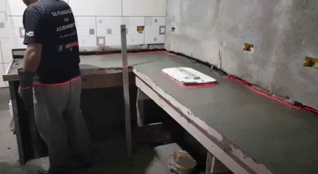 Бетонная столешница для кухни своими руками