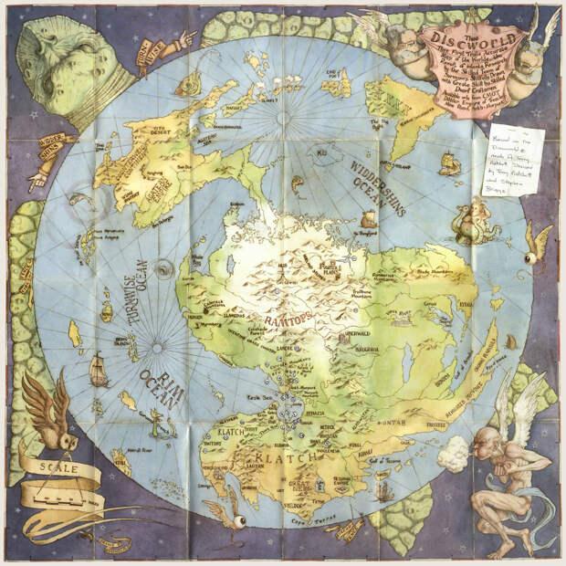 12. Плоский мир. Несуществующие миры, карты, фэнтези