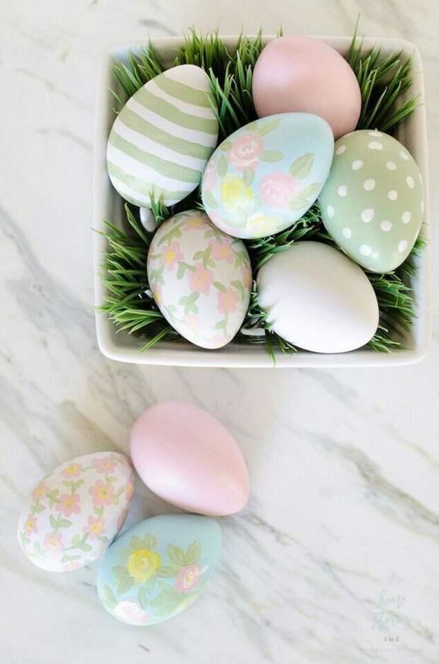 Много идей окраски и сервировки яиц (трафик)