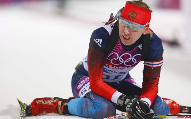 Биатлонистка Глазырина временно отстранена от соревнований из-за подозрения в нарушении антидопинговых правил
