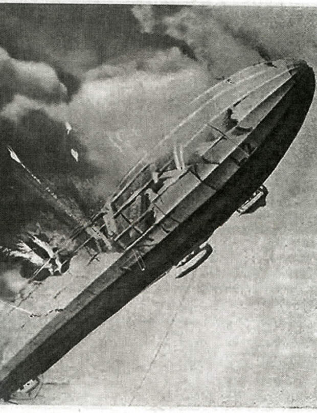Гибель германского цеппелина над Британией