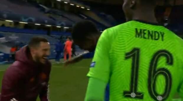 Азар со смехом пообщался с игроками «Челси» после проигранного «Реалом» полуфинала ЛЧ