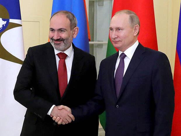 Пашинян попросил у Путина военную помощь для решения карабахского вопроса