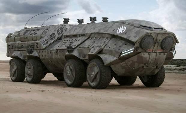 Бункер на колесах: самовыкапывающаяся бронемашина Редут