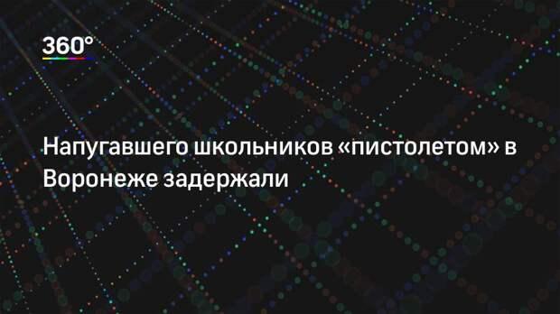 Напугавшего школьников «пистолетом» в Воронеже задержали
