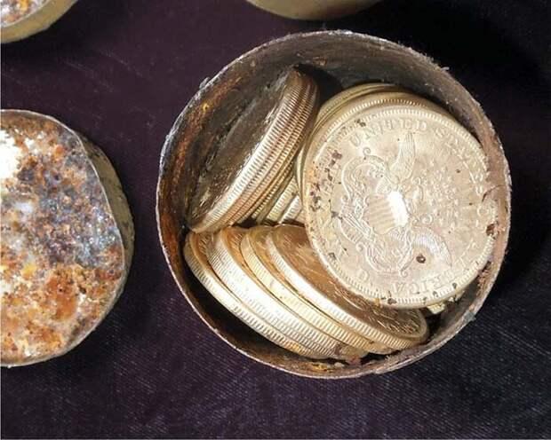 Сокровище Седл-Ридж - золотые монеты на 10 млн $ хранились в ржавых банках