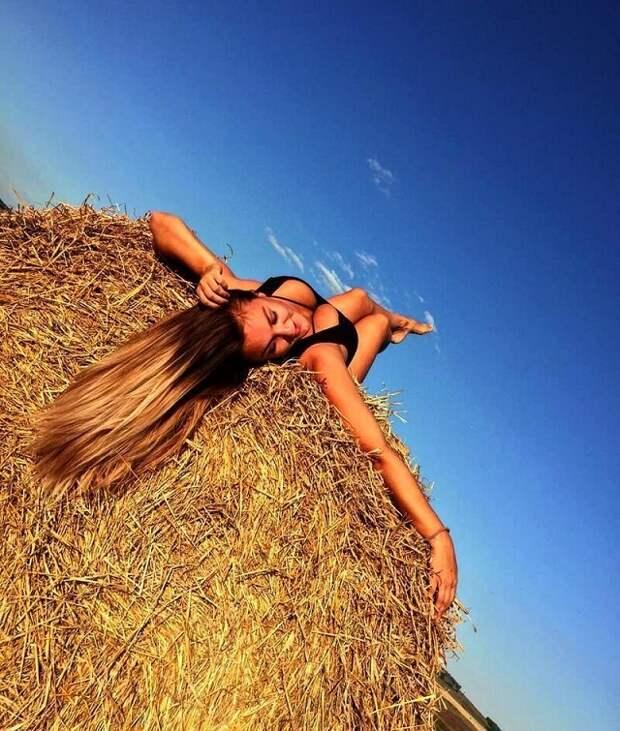 Фотографии с красивыми девушками. Популярная локация среди любительниц Instagram - сеновал