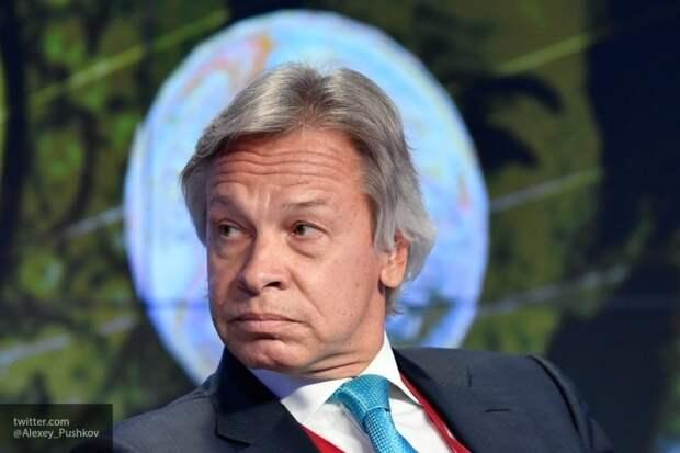 Пушков считает Зеленского президентом без принципов