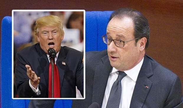 Олланд не согласен с прессой, согласен с Трампом