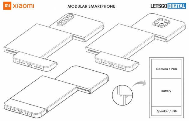 Замена камеры или аккумулятора в один клик. У Xiaomi может появиться модульный смартфон