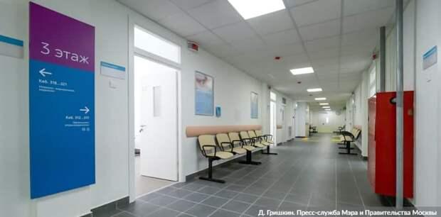 Собянин осмотрел итоги реконструкции городской поликлиники № 6 в САО Фото: Д. Гришкин mos.ru