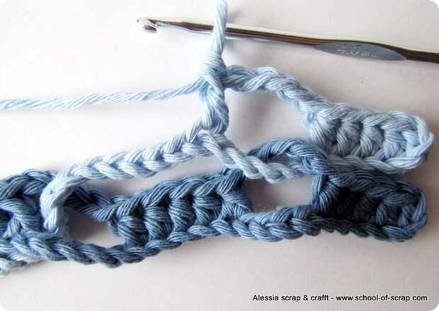 Интересная техника вязания крючком