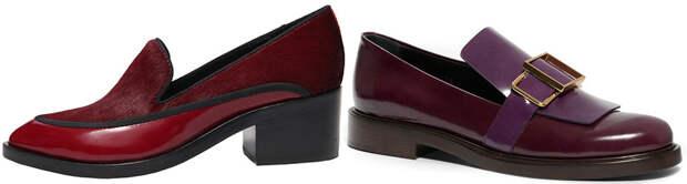 Туфли на низком каблуке, фото