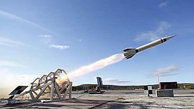 Запуск метеорологической ракеты МН-300