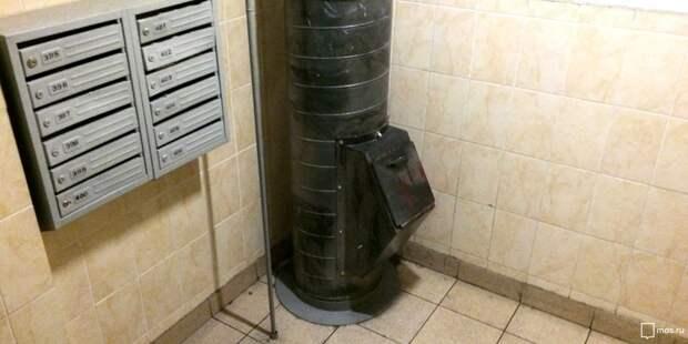 В доме на Большой Марфинской промыли мусоропровод