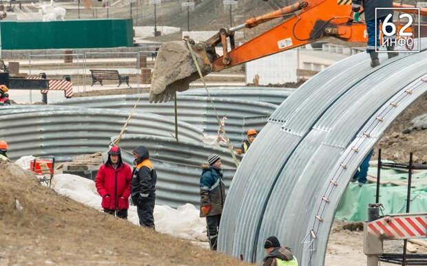 В Рязани сняли с воздуха реконструкцию двух мостов