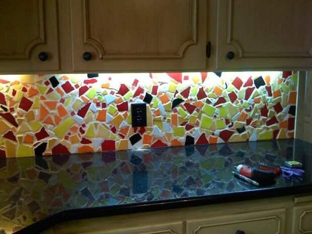 Яркое дополнение для современной кухни. /Фото: i.pinimg.com