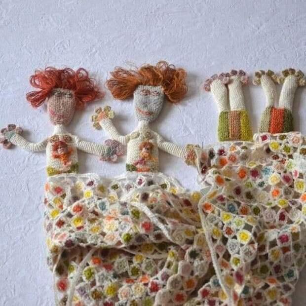 Идеи для шарфиков от Sophie Digerd
