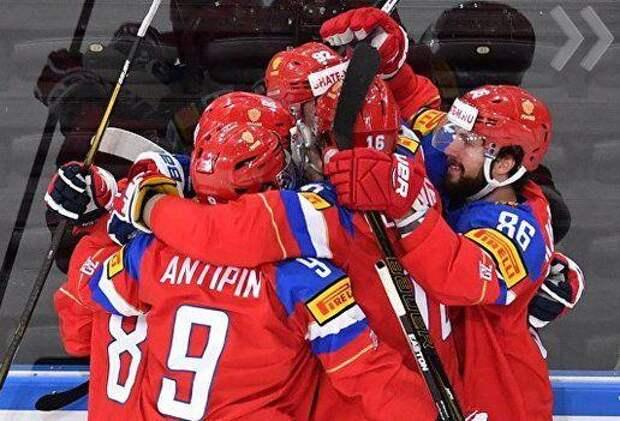 Российские хоккеисты зрелищно вышли в полуфинал Олимпийских игр в Пхёнчхане
