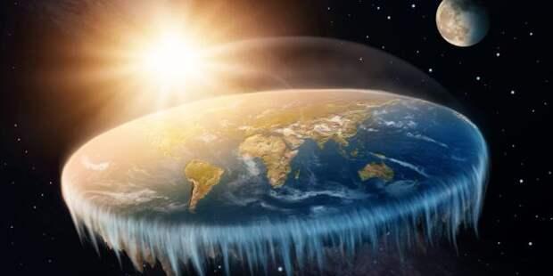 плоская планета Земля в космосе